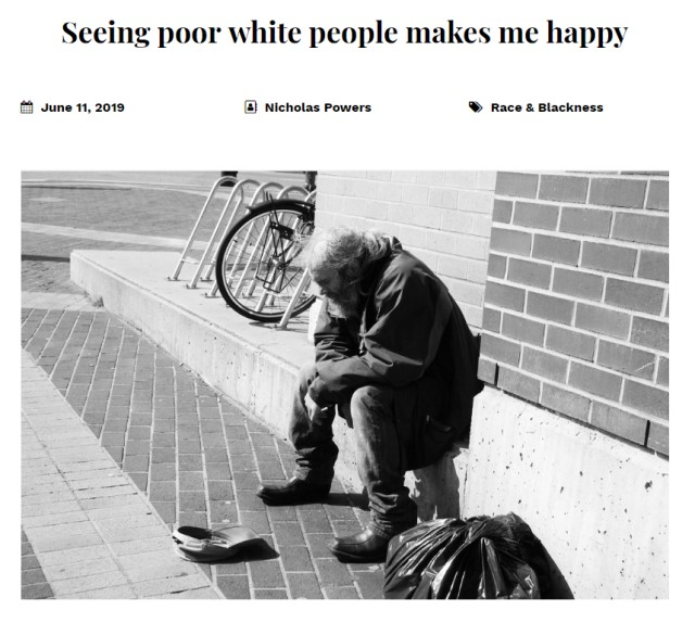 """Black SUNY Professor Says He Feels """"Happy"""" Seeing White Homeless People Begging for Food"""