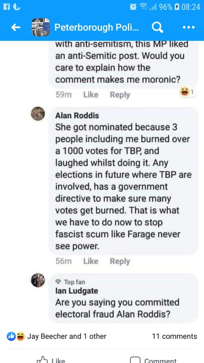 Police Investigating Labour Supporter Who Claimed He Burned a Thousand Brexit Party Votes