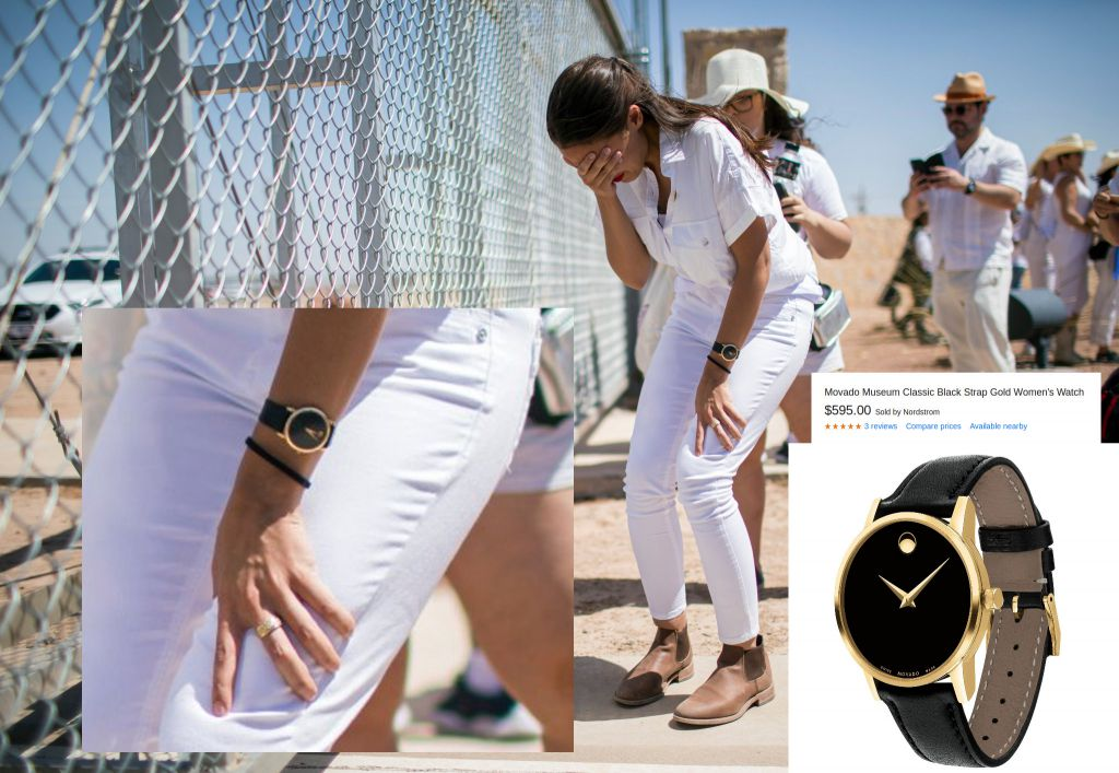 D94JEyTXYAEM5zj?format=jpg&name=360x360 AOC Criticized For Wearing $600 Watch During 'Crying' Border Photo-Op [your]NEWS