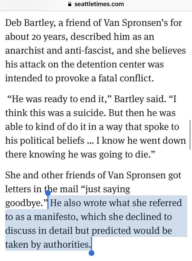 Armed Man Who Firebombed ICE Facility Wrote Antifa Manifesto