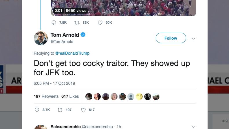 Tom Arnold Aims JFK Assassination Tweet at Trump