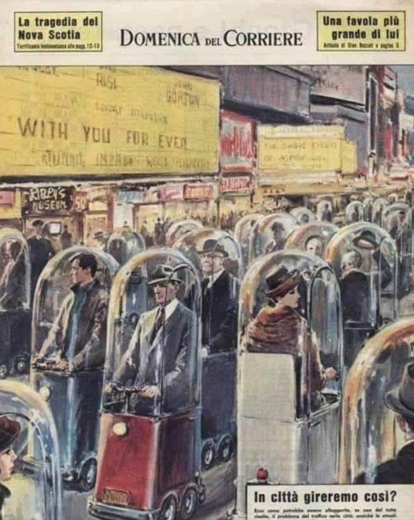1962 'Life in 2022' Image Depicted Everyone Trapped in Pods