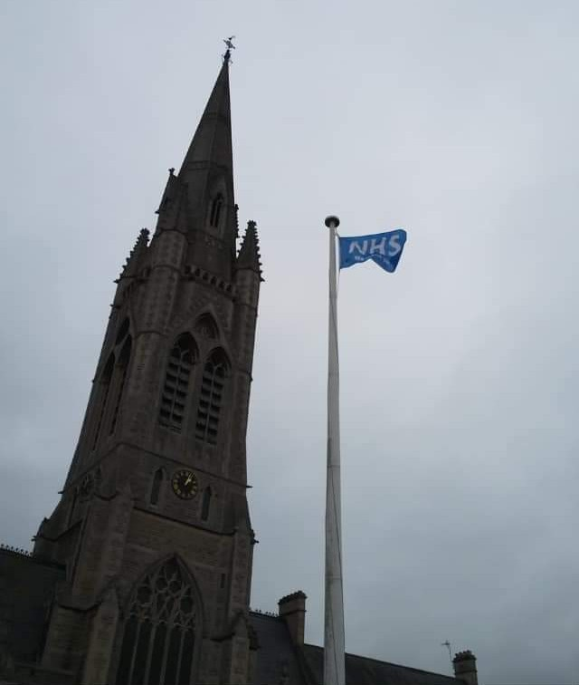 New Religion: Church Replaces Vatican Flag With NHS Flag