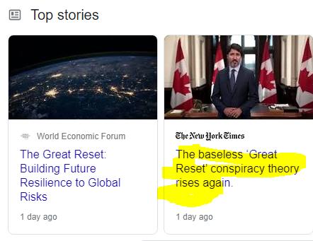 """Das WEF feiert während die  NY Times behauptet das der """"Great Reset"""" eine """"Verschwörungstheorie"""" sei"""