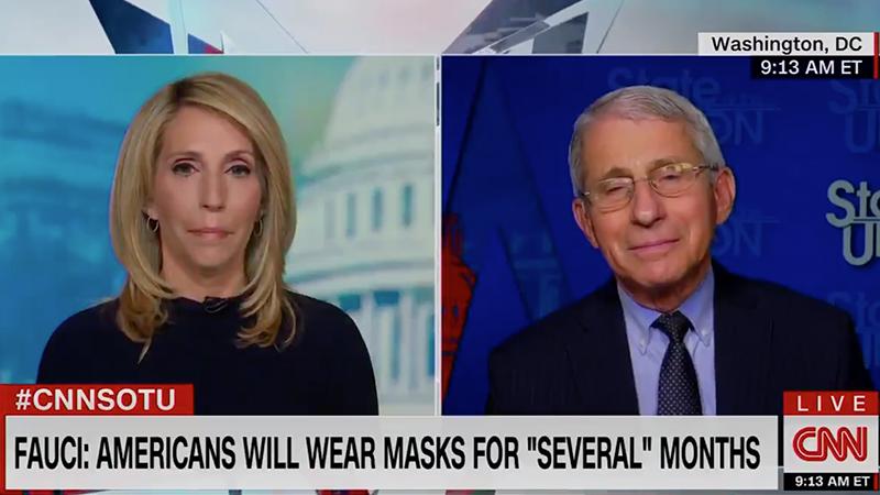 """Fauci: Gesichtsmasken bis 2022 und die Rückkehr zur Normalität """"hängt davon ab, was man unter Normalität versteht"""""""