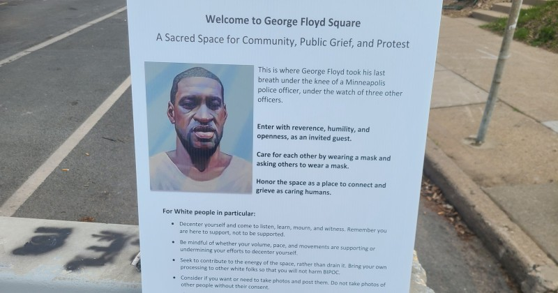 George Floyd Autonomous Zone Issues 'Rules For White People'