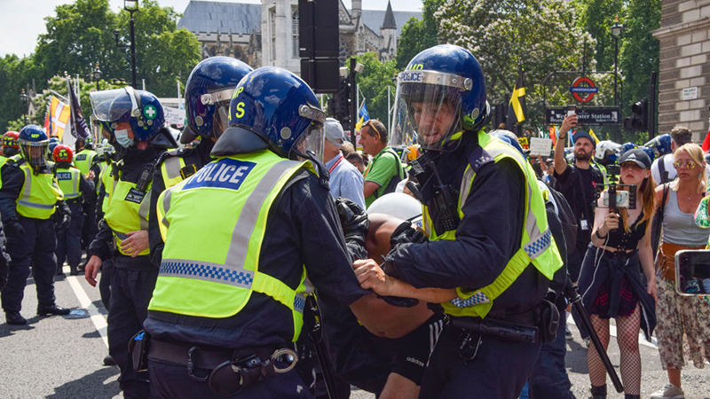 """Videos: Protesters Brutally Beaten And Arrested By Police On UK """"Freedom Day"""""""